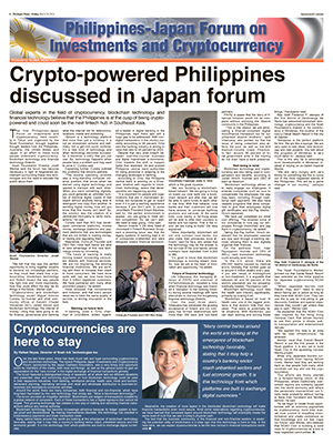 Global Media Post: Philippines-Japan Forum on Investments & Cryptocurrency (Mar. 30, 2018)