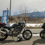 Motorcycles and Mount Fuji