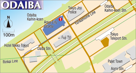Tokyo Map to Odaiba Area Movie Theaters The Japan Times Online
