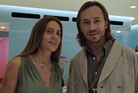 Marie-Helene de Talliac with designer Marc Newson