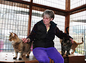 Elizabeth Oliver, founder of the animal shelter ARK in Kansai