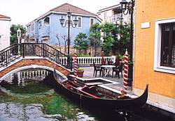 a gondola in Jiyugaoka's 'Little Venice' retail area