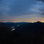 The lights of Tokyo from Mount Mitake