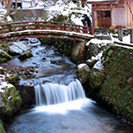 Eiheiji Temple river in winter, Fukui Pref.