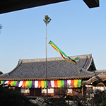 New Year's decoration at a temple, Numazu, Shizuoka Pref.