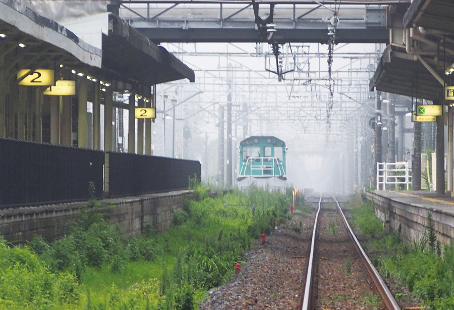 Misty morning, Nishinasuno Station, Tochigi Pref.